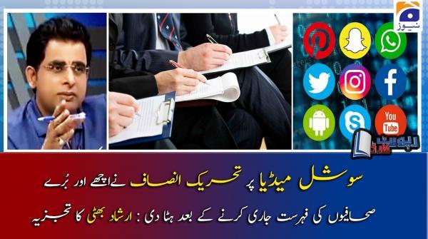 Irshad Bhatti | PTI ki Journalists ke khilaf Narazgiyon ki waja kya hai?