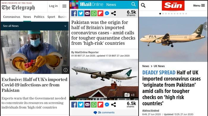 UK papers accept mistake in accusing Pakistan for imported COVID-19 cases