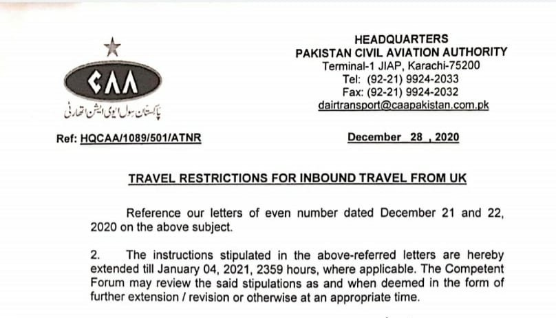 United Kingdom coronavirus variant detected in three Karachi passengers