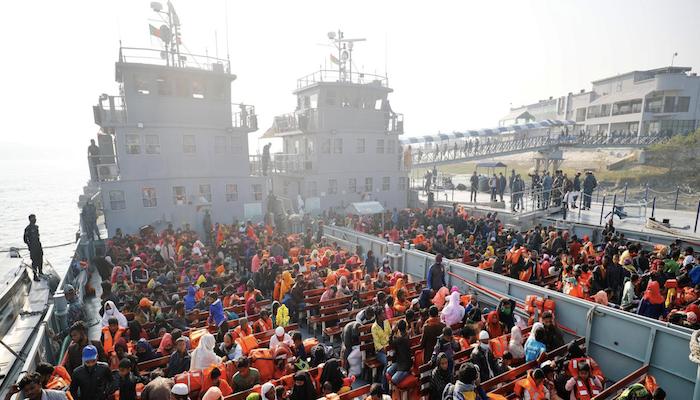 Bangladesh ships second group of Rohingya to isolated island