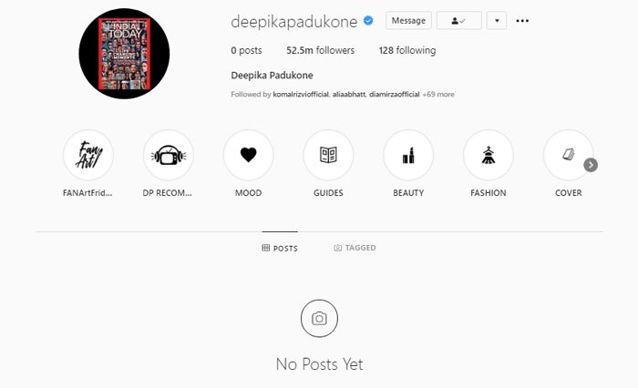 Deepika Padukone shares her 'thoughts and feelings' after deleting social media posts""