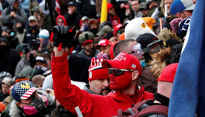 Pro-Trump protesters clash with Capitol police at a rally to contest the certification of the 2020 U.S. presidential election results by the U.S. Congress, at the U.S. Capitol Building in Washington, U.S, January 6, 2021. — Reuters