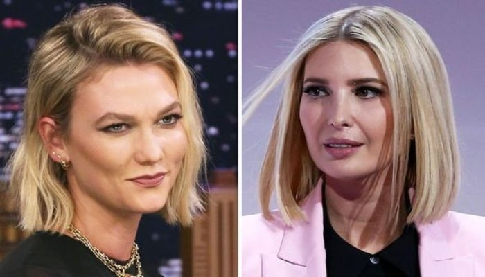 Karlie's a bit Kloss at her in-law Ivanka Trump