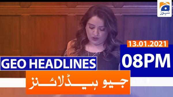 Geo Headlines 08 PM | 14th January 2021
