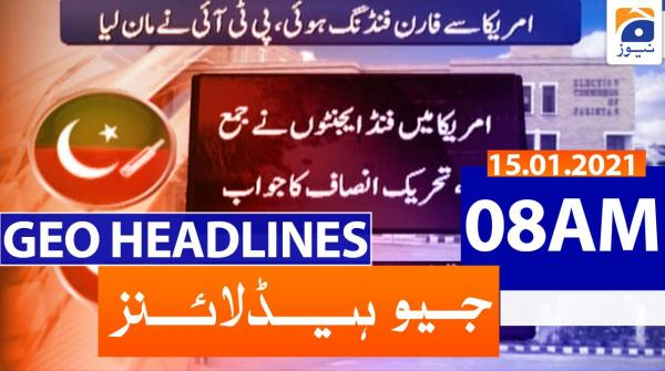 Geo Headlines 08 AM | 15th January 2021