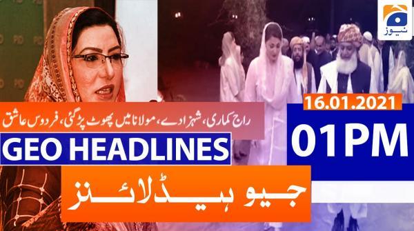 Geo Headlines 01 PM | 16th January 2021