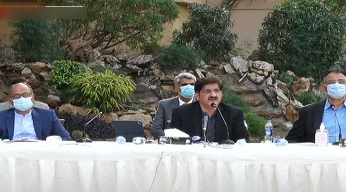 In Karachi presser, Asad Umar says collaboration on development works necessary