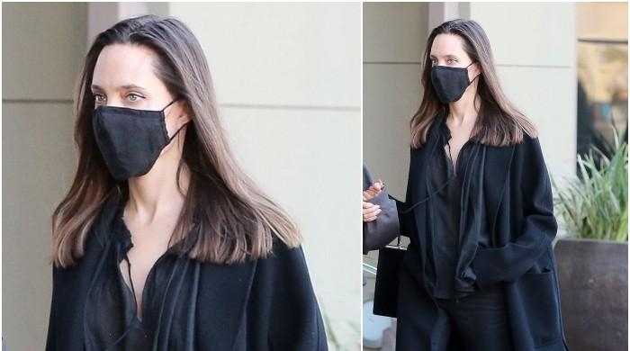 Angelina Jolie rocks an effortlessly chic look as she steps out