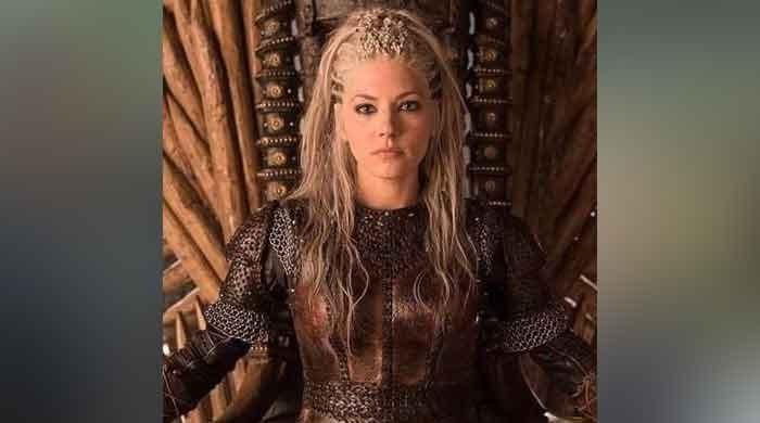 'Vikings' Lagertha celebrates 'The Marksman' success
