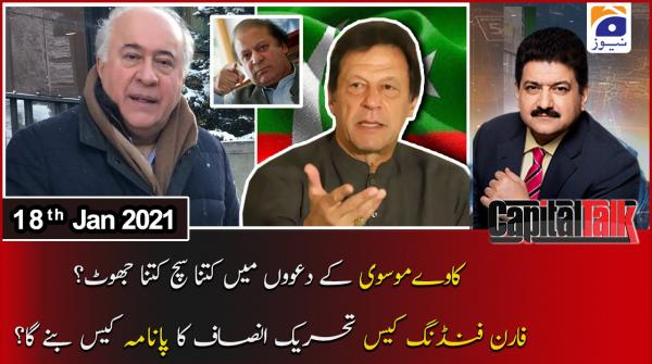 Capital Talk with Hamid Mir | 18th January 2021