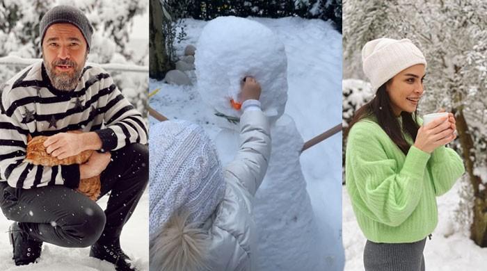 Engin Altan, wife Neslisah's latest stunning snaps enjoying 'snowy Sunday' win hearts