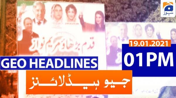 Geo Headlines 01 PM | 19th January 2021