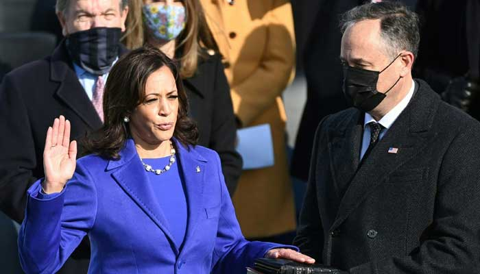 Kamala Harris sworn in as first woman US vice president