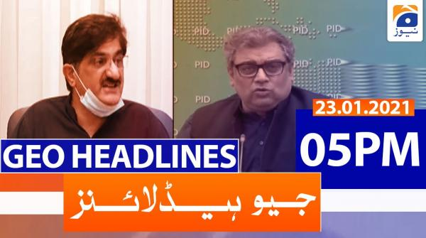 Geo Headlines 05 PM | 23rd January 2021