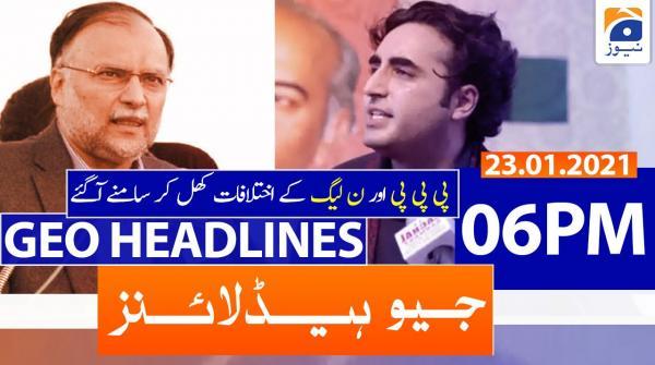Geo Headlines 06 PM | 23rd January 2021