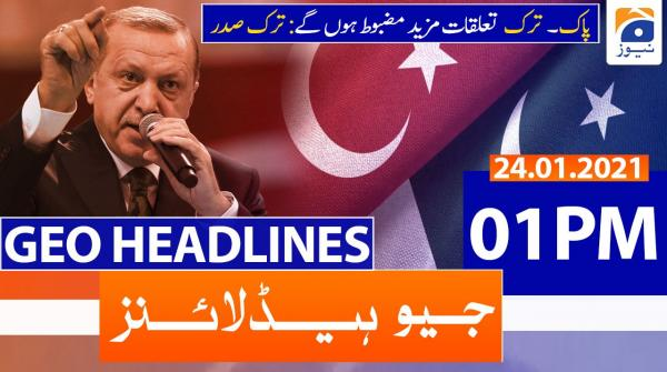 Geo Headlines 01 PM | 24th January 2021