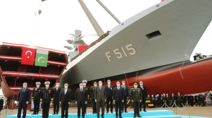 Erdogan launches welding of 3rd MILGEM corvette for Pakistan Navy