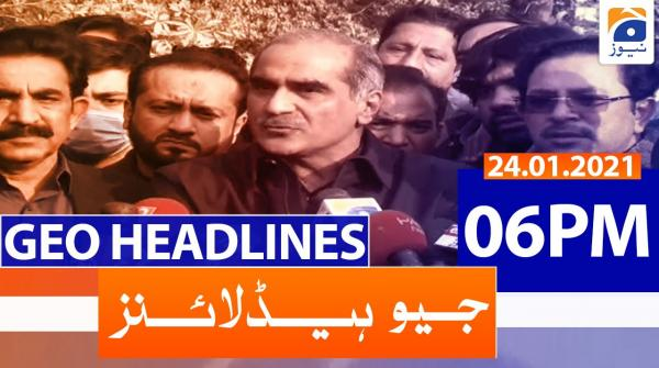 Geo Headlines 06 PM | 24th January 2021