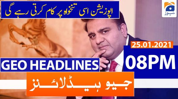 Geo Headlines 08 PM | 25th January 2021