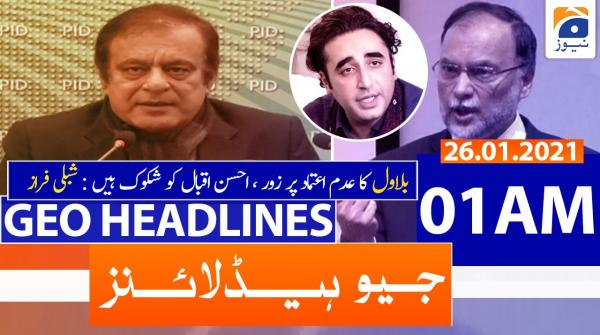 Geo Headlines 01 AM | 26th January 2021