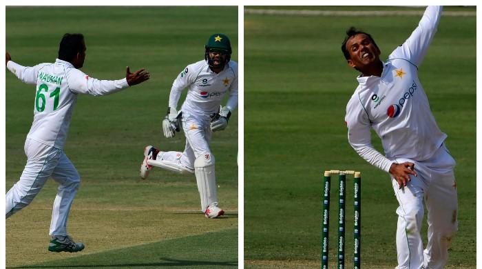 Watch: The moment Nauman Ali got his maiden Test wicket of Quinton de Kock