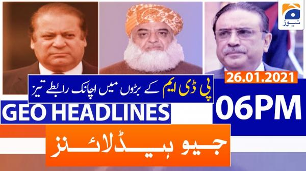 Geo Headlines 06 PM | 26th January 2021