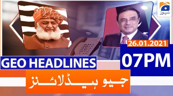 Geo Headlines 07 PM | 26th January 2021