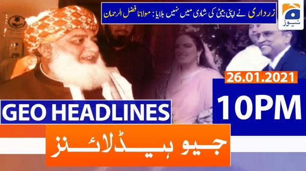 Geo Headlines 10 PM | 26th January 2021