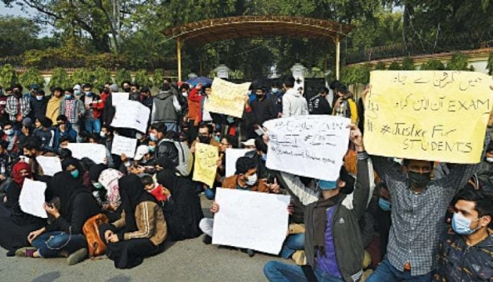 Demo held as four students go missing