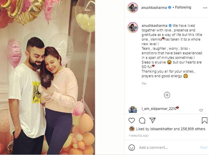 Anushka, Virat reveal their daughter's name