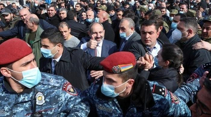 Tensions come to a head as Armenian PM accuses military of attempting coup
