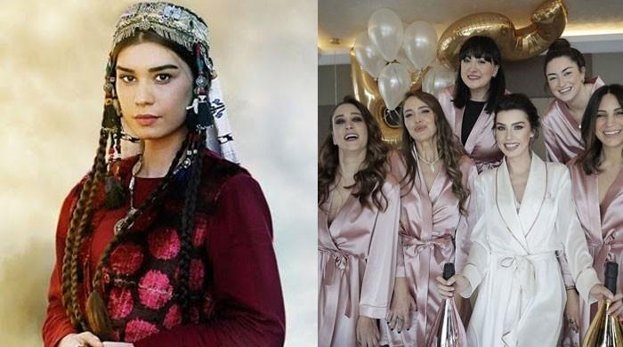 'Ertugrul' star Burcu Kıratlı shares adorable snaps with her 'crazy bridesmaids'