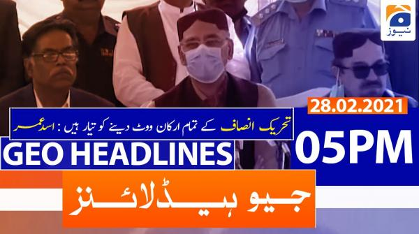 Geo Headlines 05 PM | 28th February 2021