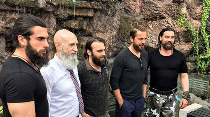 'Dirilis: Ertugrul': Osman Soykut shares adorable photo with Engin Altan, other stars