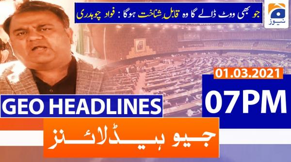 Geo Headlines 07 PM | 1st March 2021
