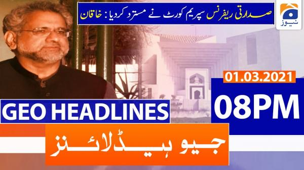 Geo Headlines 08 PM | 1st March 2021