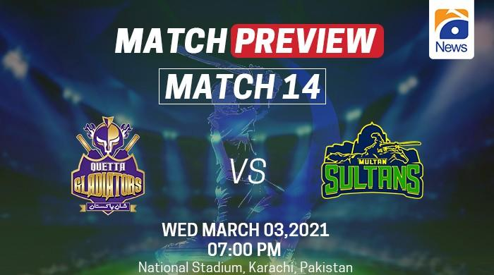 PSL 2021, Match preview: winless Quetta Gladiators take on Multan Sultans today