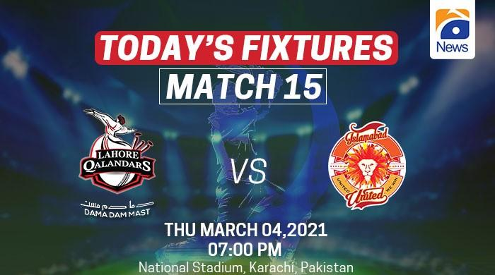PSL 2021 schedule: Today's fixture, March 4