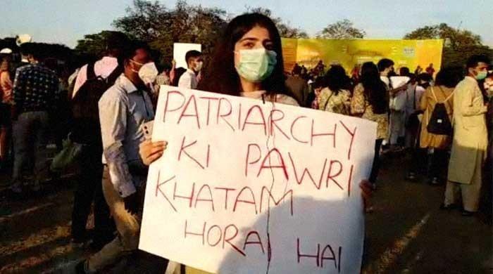'Pawri' poster at Aurat March a smart jibe at Pakistan's attitude towards women