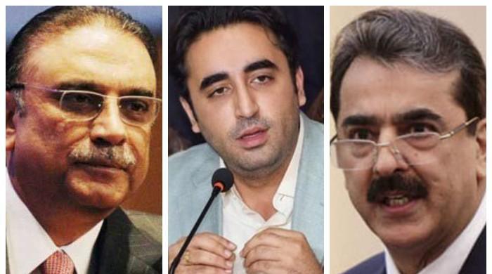 Zardari, Bilawal, Gillani meet on Senate election; PPP to challenge rejected votes in IHC