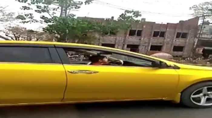 Lahore police take action after video of minor driving car goes viral