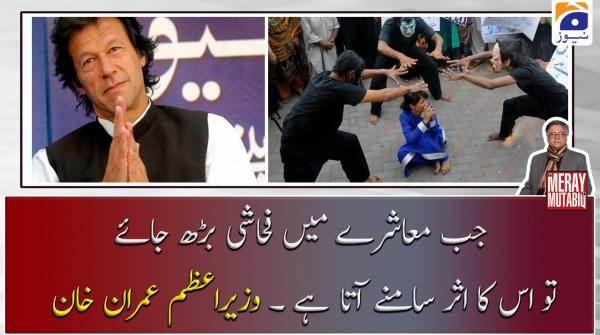 جب معاشرے میں فحاشی بڑھ جائے تو اس کا اثر سامنے آتا ہے ۔ وزیراعظم عمران خان