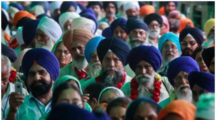 Sikh pilgrims from India reach Pakistan to participate in Baisakhi festival