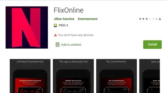 'Do not download': Android users warned of malware via fake Netflix app