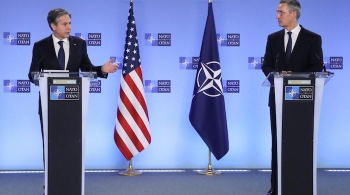 US officials meet NATO allies in Brussels after Washington says troops to leave Afghanistan
