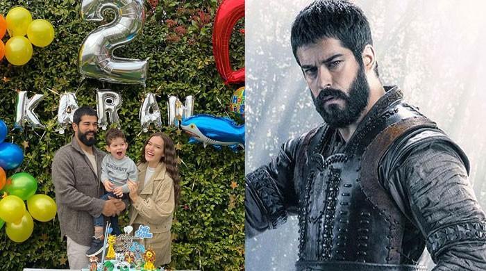 'Kurulus: Osman' actor Burak Ozcivit celebrates second birthday of son Karan