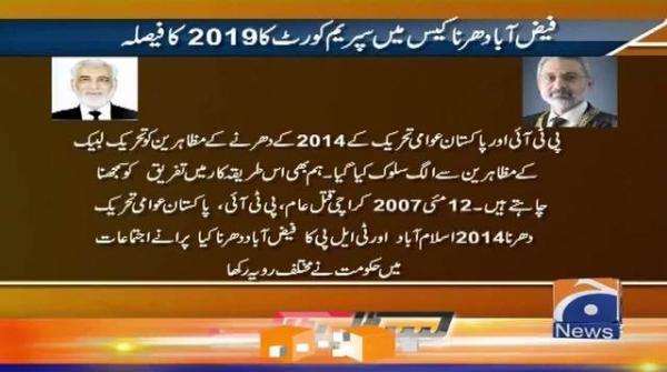 Faizabad Dharna Case mai SC ka 2019 ka Faisla..!