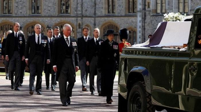 In pictures: Royal family pays last respects to Prince Philip