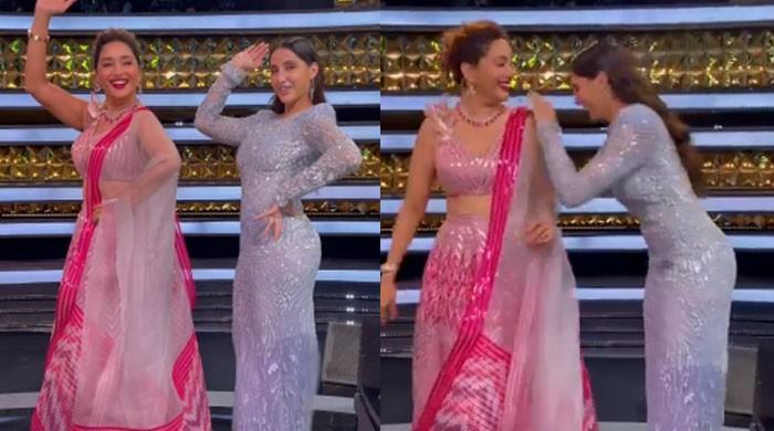 Nora Fatehi, Madhuri Dixit dance on 'Dilbar', video goes viral