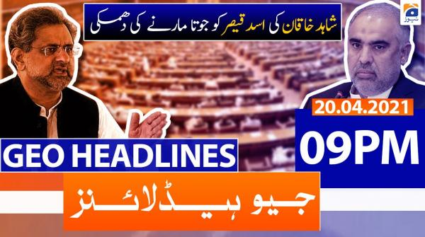 Geo Headlines 09 PM | 20th April 2021